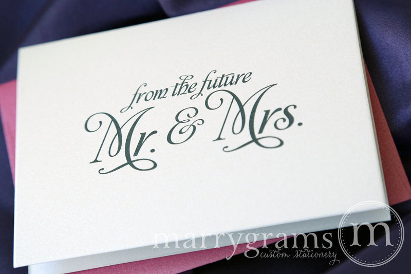 From The Future Mr. & Mrs. Bridal Shower Thank You Card