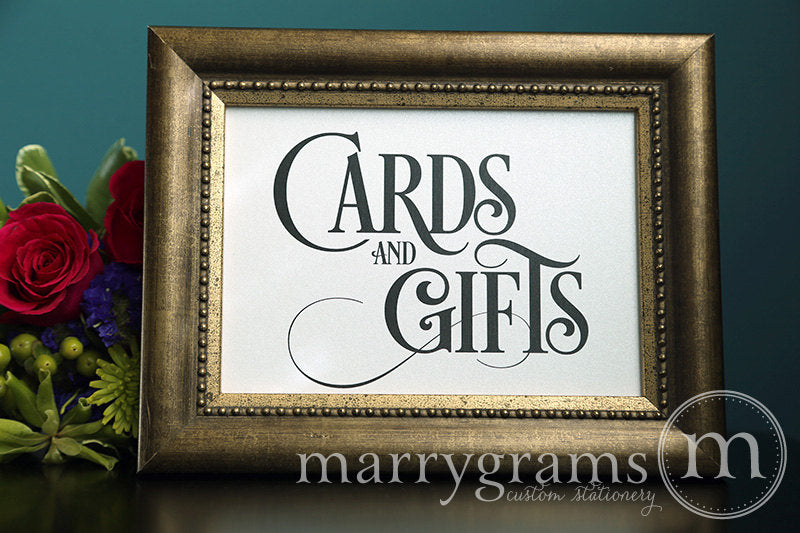 Cards and Gifts Wedding Reception Sign Enchanting Style
