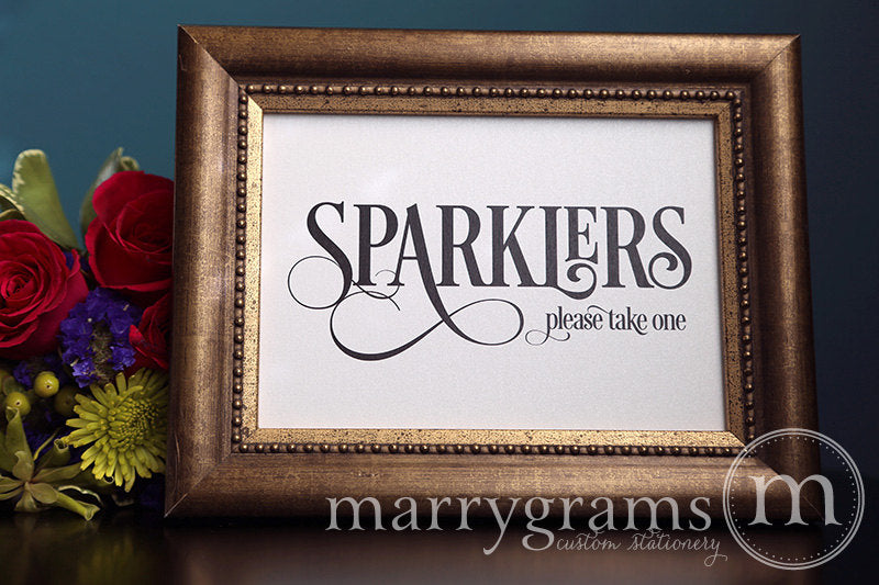 Wedding Sparklers Send Off Sign Enchanting Style