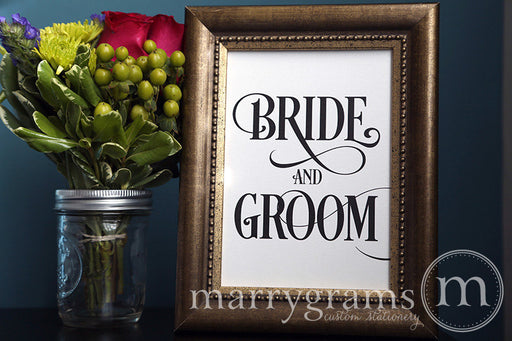Bride and Groom Sweetheart Table Sign Enchanting Style