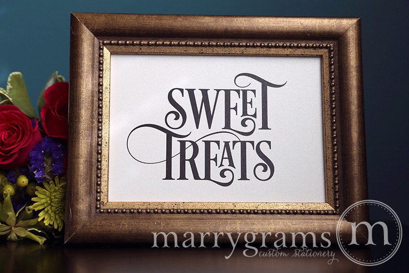 Wedding Sweet Treats Dessert Candy Sign Enchanting Style