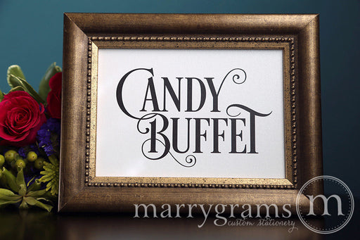 Candy Buffet Wedding Reception Sign Enchanting Style