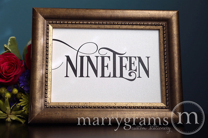 Wedding Table Number Signs Enchanting Style