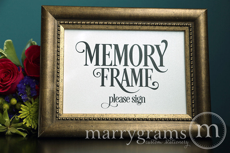 Memory Frame Wedding Guest Book Table Sign Enchanting Style