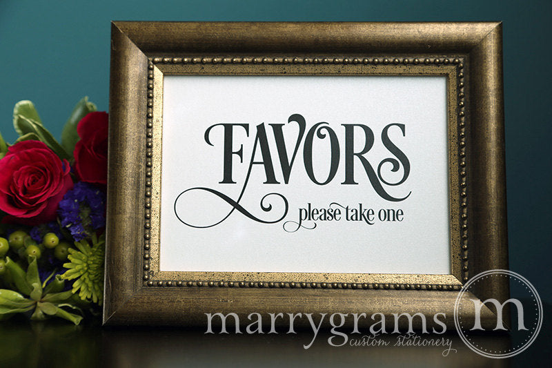 Wedding Favors Sign Enchanting Style