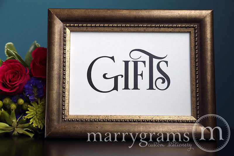 Gifts Wedding Gift Table Sign Enchanting Style