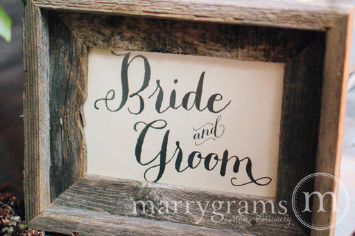Bride and Groom Sweetheart Table Sign Thick Style