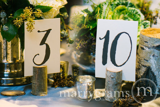 Numerical Wedding Table Number Signs Thick Style
