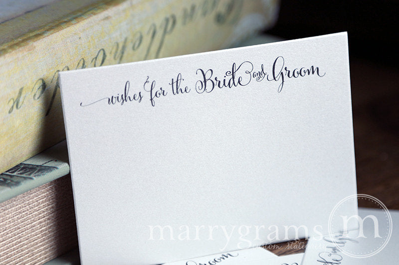 Wishes For The Bride and Groom Cards Whimsical Style