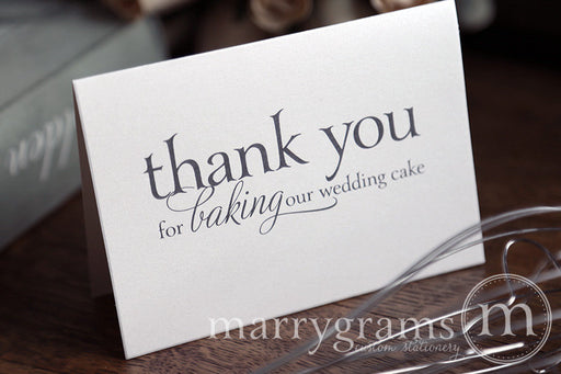 Thank You for Baking Wedding Cake Baker Card Serif Style