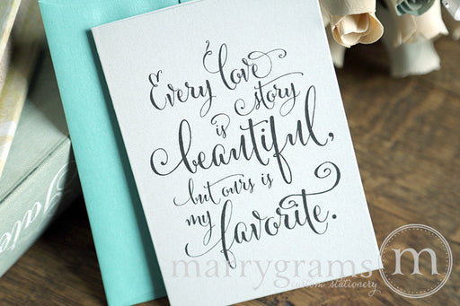 Every Love Story To My Bride or Groom Card Whimsical Style