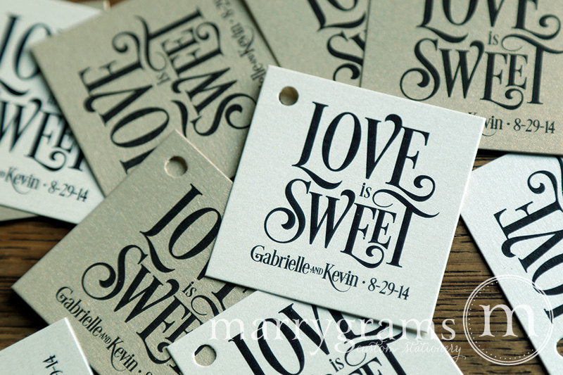 Love is Sweet Custom Wedding Favor Tag Enchanting Style