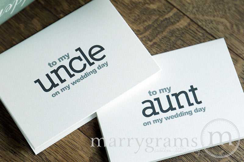 To My Family aunt and uncle  Wedding Day Card Block Style