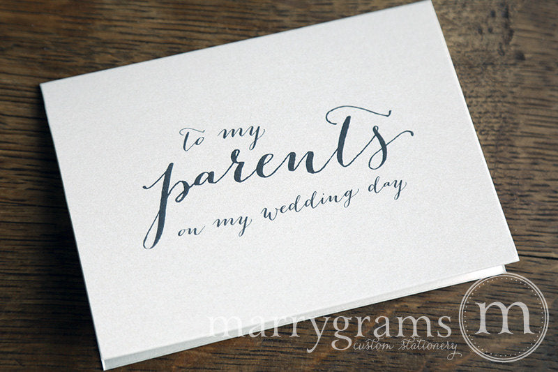 To My Family parents Wedding Day Card Handwritten Style