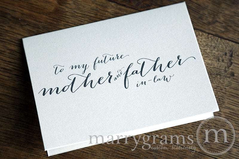 To My Family future in laws Wedding Day Card Handwritten Style