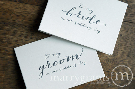 To My Bride or Groom Wedding Day Card Handwritten Style