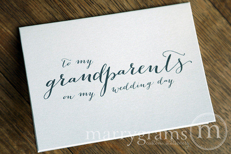To My Family grandparents Wedding Day Card Handwritten Style