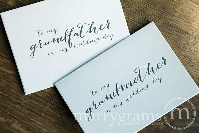 To My Family grandmother and grandfather Wedding Day Card Handwritten Style