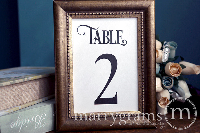 Numerical Wedding Table Number Signs Enchanting Style