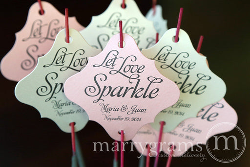 Let Love Sparkle Wedding Sparkler Tags