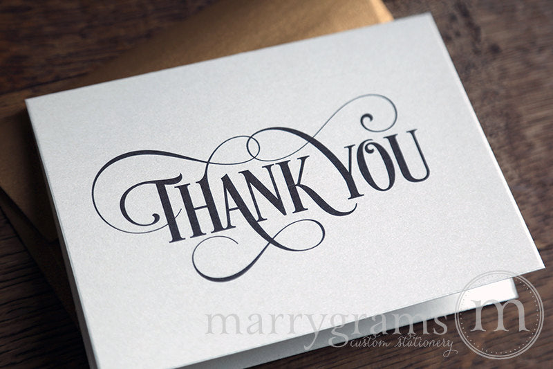 Wedding Thank You Card Enchanting Style
