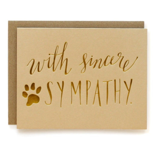 with sincere sympathy, pet loss card for friend or loved one