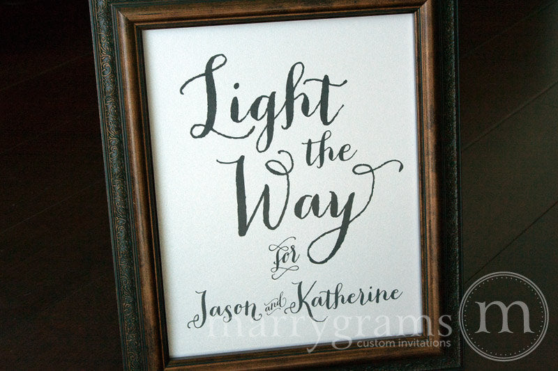 Light The Way For Custom Sparkler Send Off Sign Thick Style