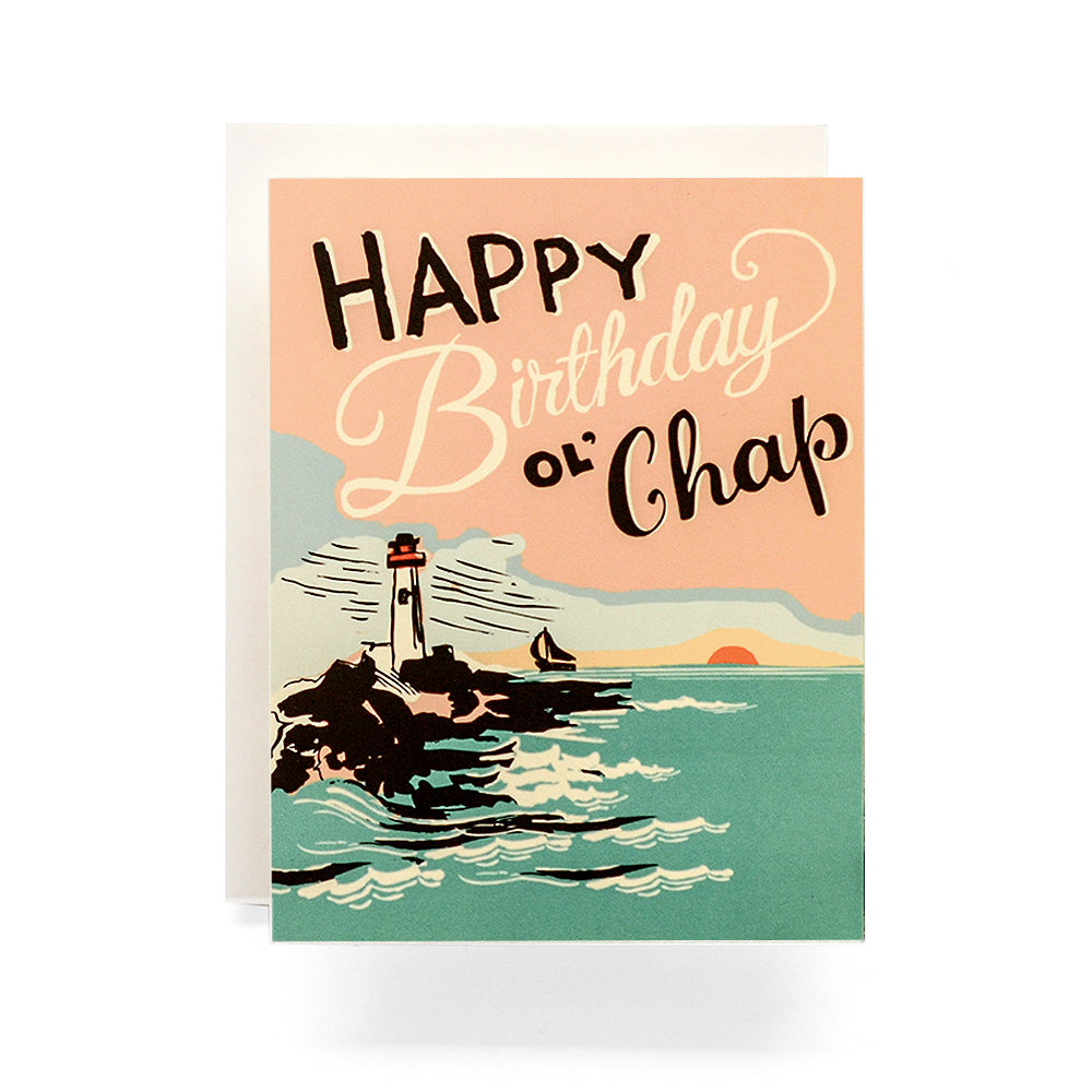 Lighthouse Chap Birthday Card