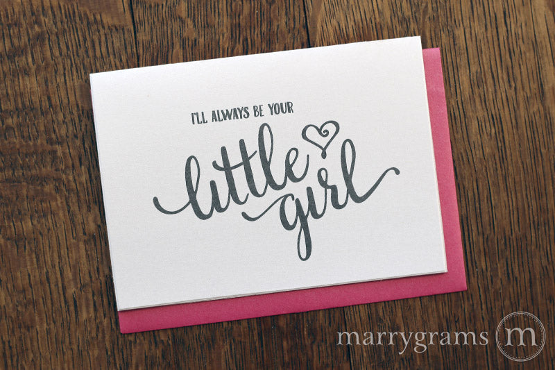 I'll Always Be Your Little Girl Wedding Day Card to Father