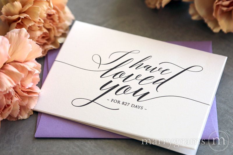 I Have Loved You For Number of Days Card Delicate Style