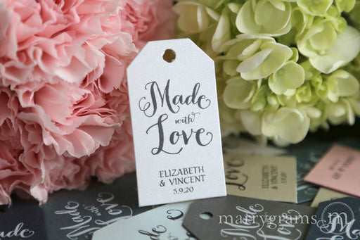Made With Love Favor Tags Thick Style