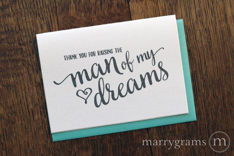 Thank You for Raising the Man of My Dreams Card for In-Laws