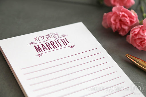 We're Getting Married Notepad
