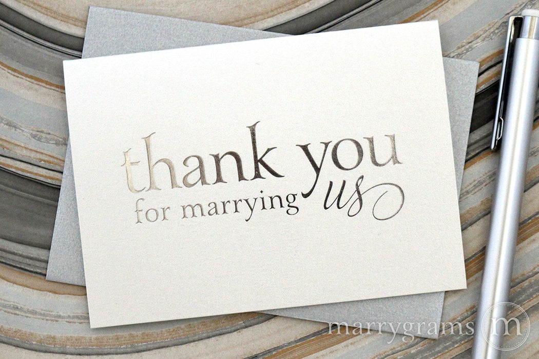 Foil Thank You for Marrying Us Card