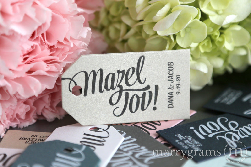 Mazel Tov Favor Tags