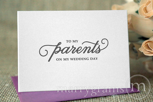 To My Family parents Wedding Day Card Curly Style