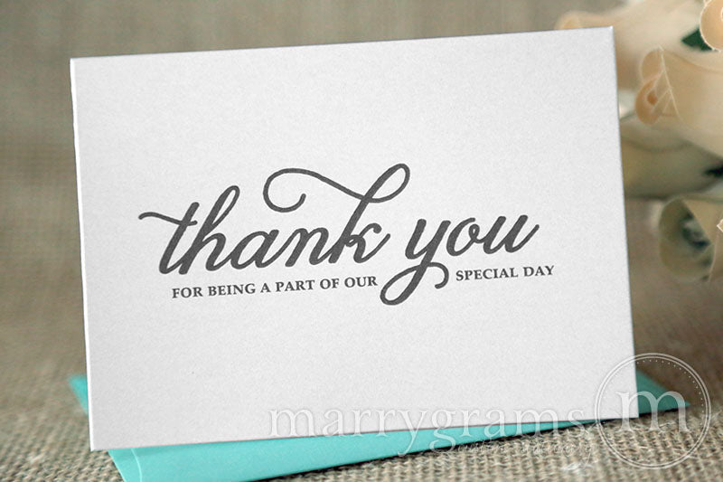 Our Special Day Vendor Thank You Card Curly Style