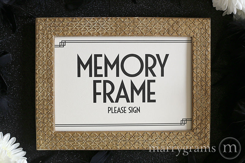 Memory Frame Wedding Guest Book Table Sign Deco Style