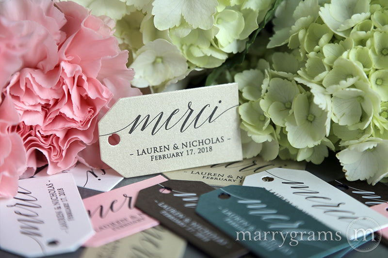 Merci Favor Tags Delicate Style