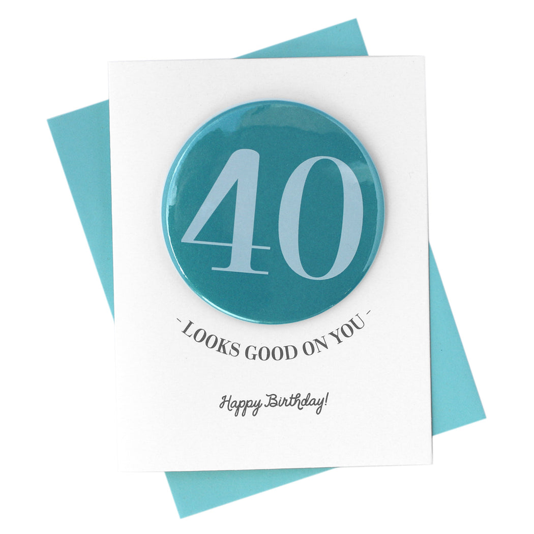 Milestone Birthday Button Card