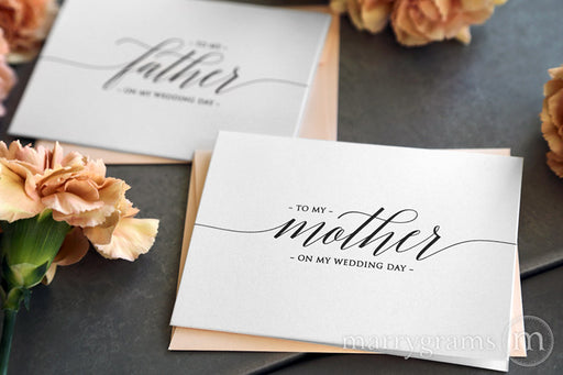 To My Family Wedding Day Card Delicate Style