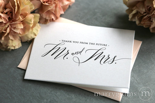 Thank You From the Future Mr. & Mrs. Cards Delicate Style