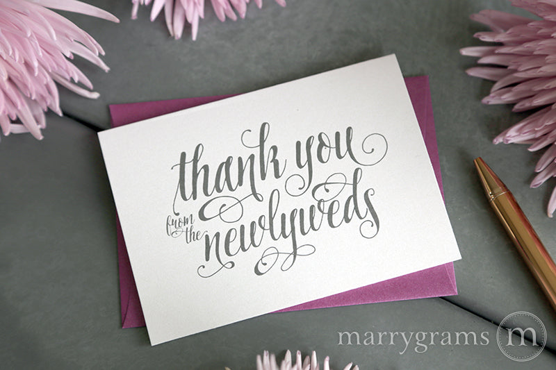 Thank You from the Newlyweds Card Romantic Style