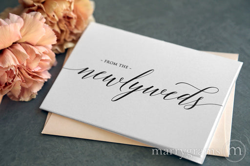 From the Newlyweds Thank You Card Delicate Style