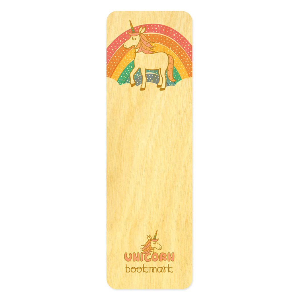 Wood Bookmark Unicorn