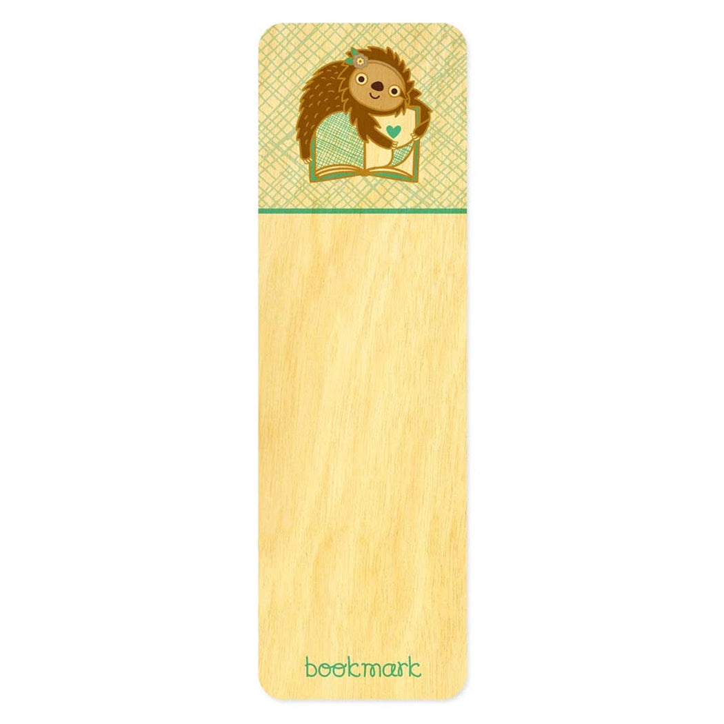 Wood Bookmark Book Sloth
