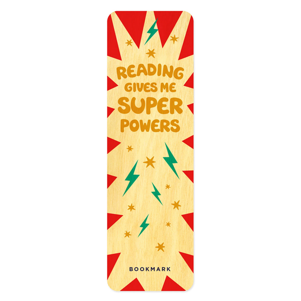 Wood Bookmark reading gives me super powers