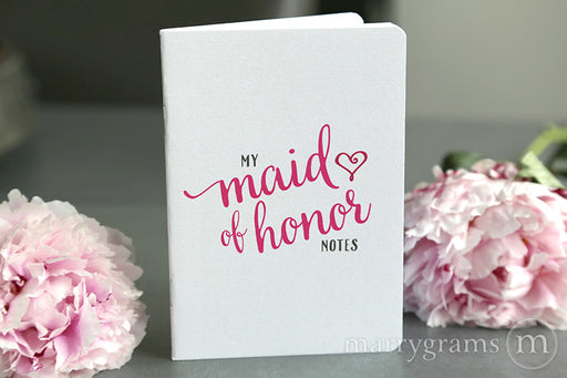 My Maid of Honor Notes Proposal Box Notebook