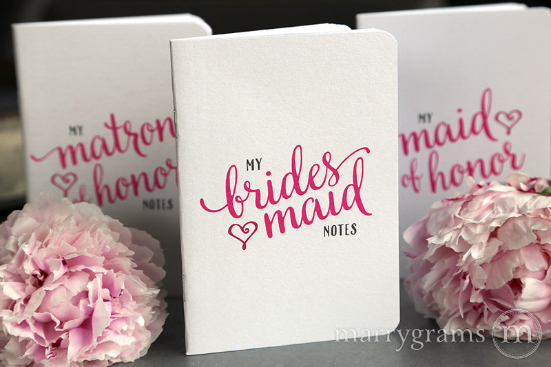 My Matron of Honor Notes Proposal Box Notebook