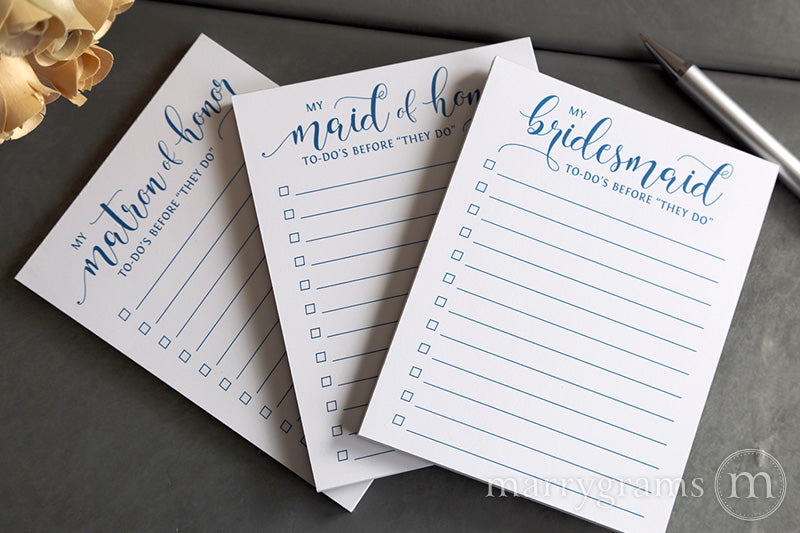 My Maid of Honor To-Do's Notepad